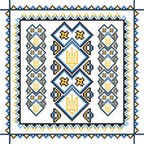 Set of seamless ornamented borders based on. Ornaments of ukrainian embroidery. Vector illustration Stock Images