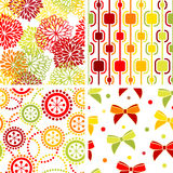 Set of seamless ornaments stock illustration