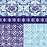 Set of Seamless Ottoman motifs bfckgrounds Stock Photography