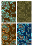 Set of seamless paisley backgrounds. Set of seamless paisley colorful backgrounds Stock Image