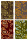 Set of  seamless paisley backgrounds Stock Photography