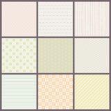 Set of seamless pastel patterns Stock Photos