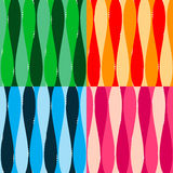 Set of seamless patterm backgound. With waves and dots Stock Photography