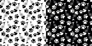 Set of seamless pattern Stock Images