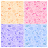Set of seamless pattern. Stock Photos