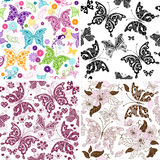 Set seamless pattern Royalty Free Stock Photography