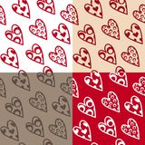 Set of seamless pattern Stock Photos