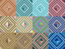 Set of seamless pattern abstract shape background Stock Images
