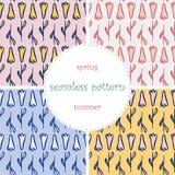 Set of seamless pattern Stock Photo