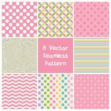 Set 8  seamless pattern Royalty Free Stock Photos