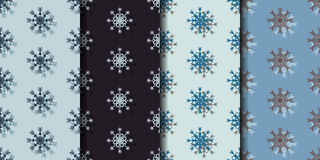 Set seamless pattern background with snowflakes. Set seamless pattern background, with snowflakes. Can be used for wallpaper, pattern fills, web page background Royalty Free Stock Photo