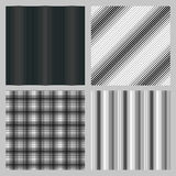 Set of 4 seamless pattern for backgrounds, fabrics and finishing of paper. Royalty Free Stock Photo
