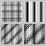 Set of 4 seamless pattern for backgrounds, fabrics and finishing of paper. Royalty Free Stock Image