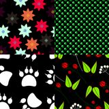 Set of seamless pattern backgrounds stock illustration