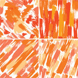 Set of seamless pattern with blots and ink splashes. Stock Image