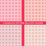 Set of seamless pattern delicate shades. Vector illustration Stock Photos