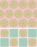 Set of seamless pattern elements with mandala1 Stock Image