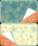 Set seamless pattern of email Stock Photo