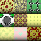 Set seamless pattern. EPS 10  illustration. used for printing, websites, design, interior, fabrics, etc. Topic card poker. o. Set seamless pattern. EPS 10 Royalty Free Stock Photos