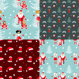 Set seamless pattern. EPS 10  illustration. used for printing, websites, design, ukrasheniayya, interior, fabrics, etc. Chri. Stmas theme A set of four patterns Stock Image