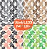 Set seamless pattern flowers, Royalty Free Stock Photo