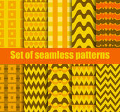 Set seamless pattern with geometric shapes. Geometric figures in the background. Vector Stock Photography