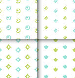 Set Seamless Pattern with Geometric Texture Stock Photos