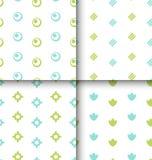 Set Seamless Pattern with Geometric Texture Stock Photos