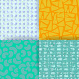 Set of 4 seamless pattern. Stock Images