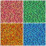 Set of Seamless Pattern with Holographic Rectangles of Different Stock Photos