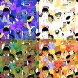 Set of seamless pattern Indian men, blue. vector illustration. Set of seamless pattern Indian men, blue vector illustration Stock Photos