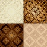 Set of  Seamless Pattern  In Islamic style. Stock Image