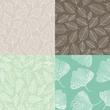 Set of seamless pattern Stock Photography