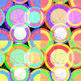 Set of seamless pattern of natal astrology charts. vector illust Stock Photos