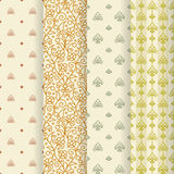 Set of 4 seamless pattern. Royalty Free Stock Photo