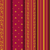 Set of 4 seamless pattern. Royalty Free Stock Photography