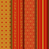 Set of 4 seamless pattern Royalty Free Stock Images
