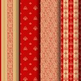 Set of 4 seamless pattern Stock Photo