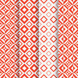 Set of 4 seamless pattern Royalty Free Stock Photos