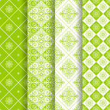 Set of 4 seamless pattern Stock Photos