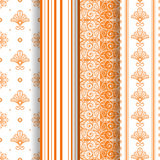 Set of 4 seamless pattern Royalty Free Stock Photo