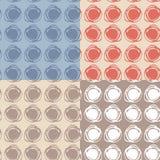 Set of 4 Seamless pattern. polka dot texture. doodle. Set of 4 Seamless pattern. polka dot texture doodle blue, pink, beige Stock Photo