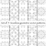 Set of 10 seamless pattern. Repeating abstract background.Modern stylish texture Stock Illustration