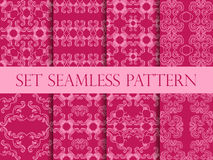 Set of seamless pattern in retro style of the Baroque. Victorian seamless pattern. Classic designs. Vector Stock Photography