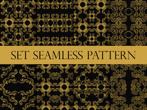 Set of seamless pattern in retro style of the Baroque. Victorian seamless pattern. Classic designs. Vector Royalty Free Stock Photos