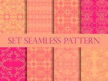 Set of seamless pattern in retro style of the Baroque. Victorian seamless pattern. Classic designs. Vector. Illustration Royalty Free Stock Photos