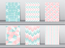 Set of seamless pattern retro style,template,Vector illustrations Stock Photography