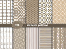 Set seamless pattern retro Stock Image