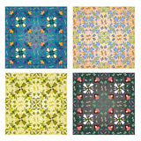 Set of 4 seamless pattern Stock Image