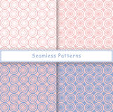 Set of seamless pattern with spiral shapes Stock Image